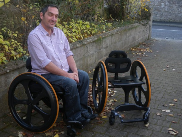 Carbon Black – Stylish Wheelchair