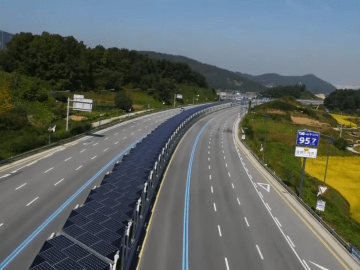 Korean Solar Bike Lane Offers Shade 4