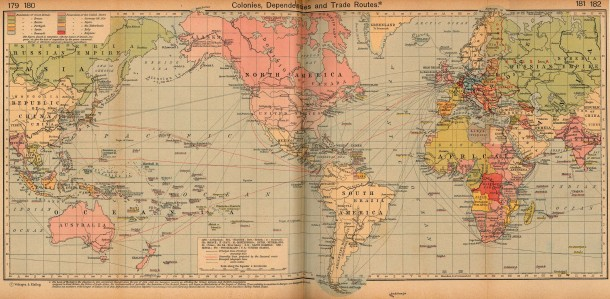 A Map Of Cables That Make Internet Possible 1912 map