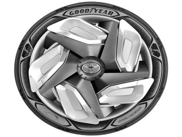 Goodyear's New Tire Design Charges Your Electric Car On The Go 2