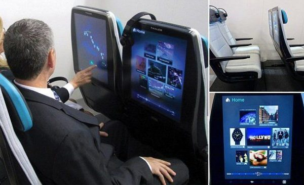 Digital Sky seats make use of larger, higher-res screens. Credits: Pin Interest