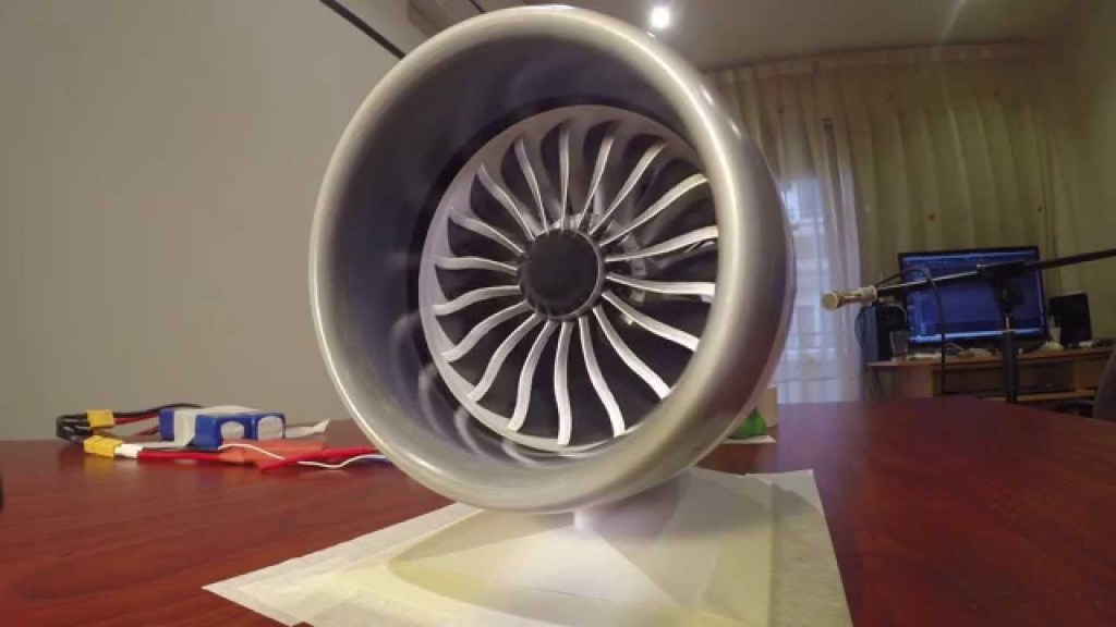 3D-Printed Model Of a B787 Jet Engine