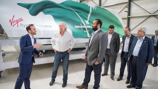 Virgin Hyperloop One Invites Saudi Arabia's Crown Prince To Show Off A New Passenger Pod
