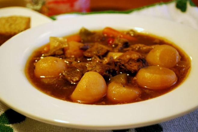 Stout Irish Stew, close bowl