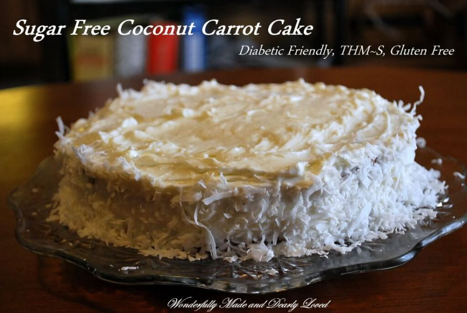 Sugar Free Coconut Carrot Cake