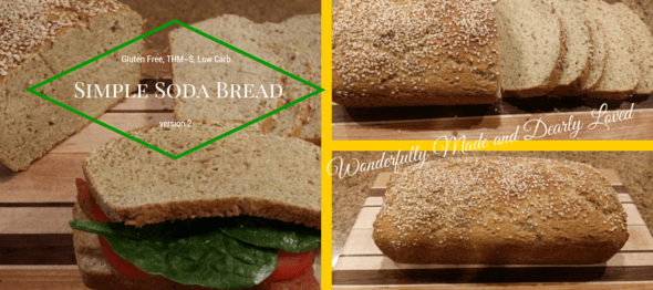 Simple Soda Bread {Low Carb, THM~S, Gluten Free}