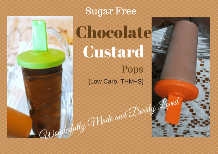 Sugar Free, THM Friendly Chocolate Custrad Pops (Low Carb, THM~S)