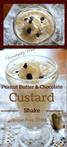 Peanut Butter Custard Shake (THM~S, Low Carb, Sugar Free}