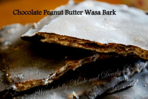 Chocolate Peanut Butter Wasa Bark {Diabetic Friendly, THM S} Serving size is 1 whole cracker for S, 2 would be a Crossover)