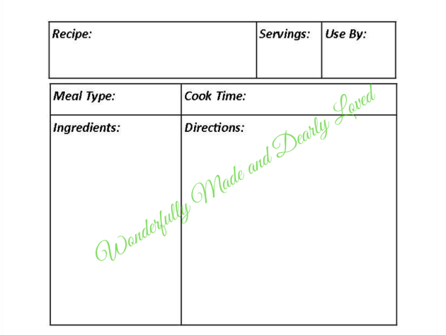 Printable Freezer Labels for THM