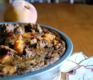 Perfectly Peach Bread Pudding (Sugar Free, THM Crossover)