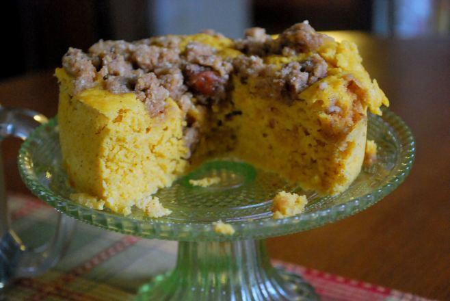 Pumpkin Crumb Cake (Sugar Free, Gluten Free, THM S )