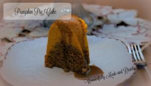 Pumpkin Pie Cake (THM S, low carb, Gluten Free)