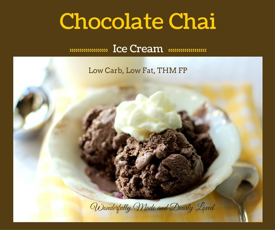 Chocolate Chai Ice Cream (low Fat, low carb, THM FP)