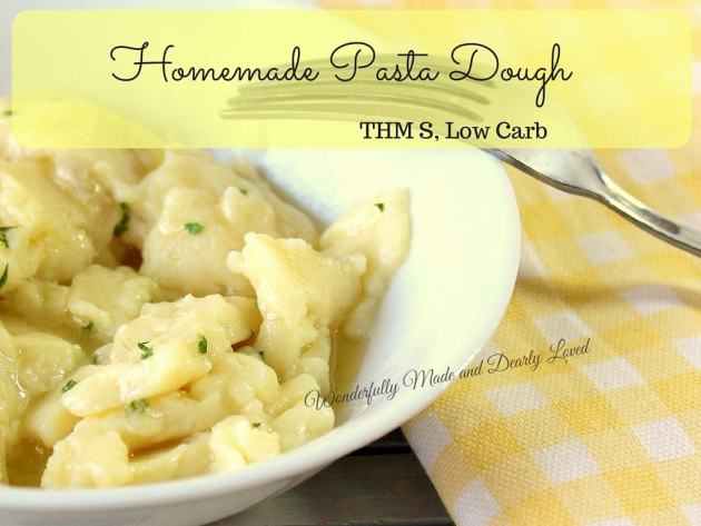 Homemade Pasta Dough (THM S, Low Carb)