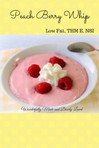 Peach Berry Whip (THM E, NSI, Low Fat)