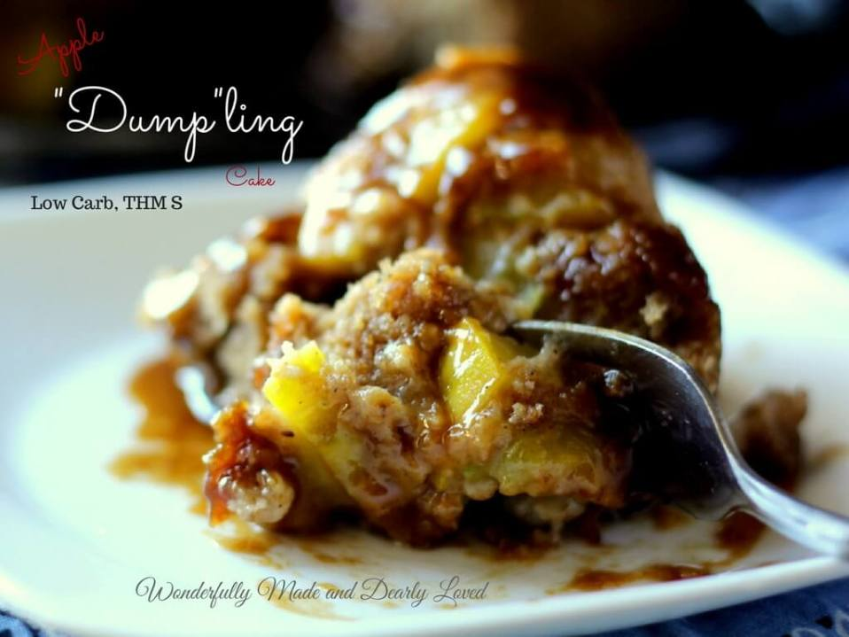 Apple Dumpling Cake (Low Carb, THM S)