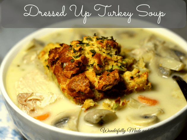This Creamy Dressed Up Turkey Soup is so tastey you will never know that it is low carb and super healthy!!