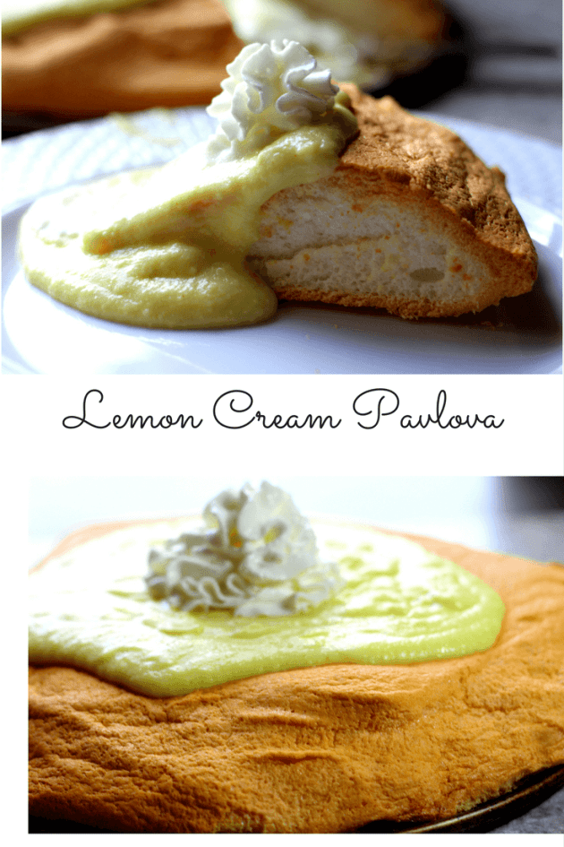 A Low Carb, Low Fat Lemon Cream Pavlova that fits well within THM FP Guidelines.