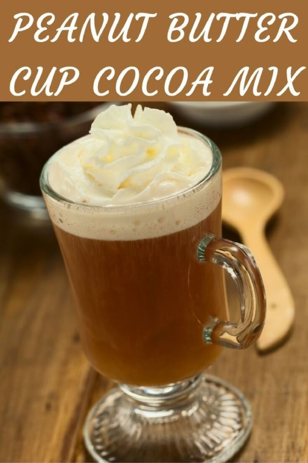 A healthy peanut butter cup hot cocoa mix to warm you up during those cold winter months.