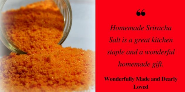 A spicy sriracha finishing salt to add zip to your dishes