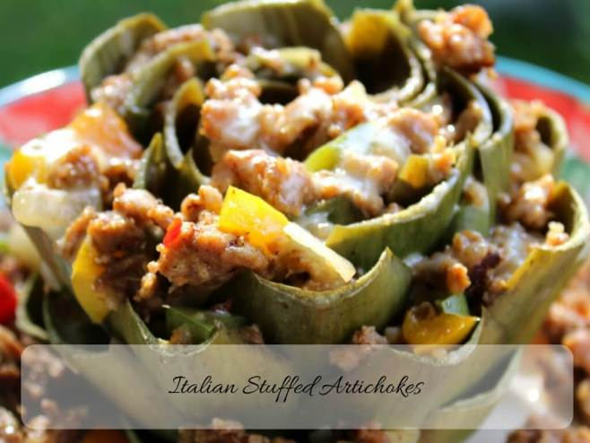 Italian Stuffed Artichokes (THM S, Low Carb)