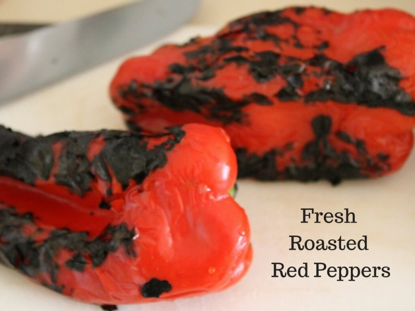 Fresh roasted red peppers