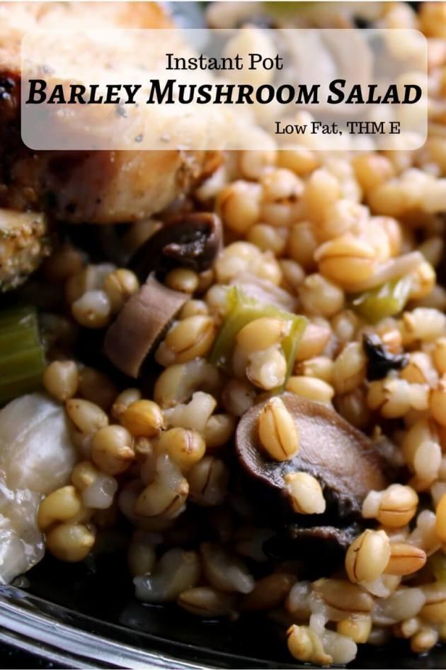 Barley Mushroom Salad (THM E, Low Fat)