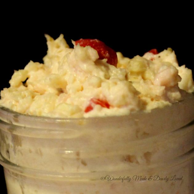 Pepper Jack Pimento Chicken Spread (THM S. Low Carb}