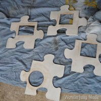DIY Puzzle Picture Frame Artwork
