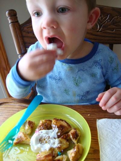 Garrett loves whipped cream