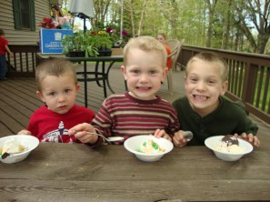 Garrett, Elijah and Silas
