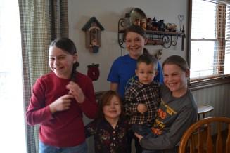 Emma, Norah, Victoria, Garrett and Sophie