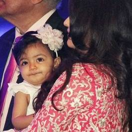 Picture of Aishwarya Bachchan with daughter Aaradhya and father Krishnaraj.