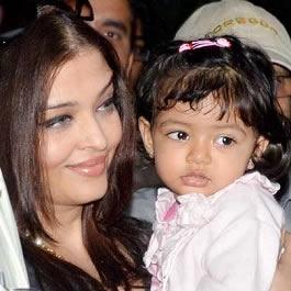 Aaradhya Bachchan with her mother Aishwarya on Feb 14, 2014.
