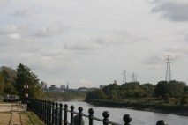 View looking down the river ribble toward Preston city centre