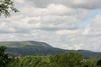Pendle hill again form Townley park with on a lovely clear day.