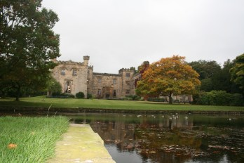 Towneley hall in autumn