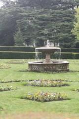 Fountain in Towneley garden.