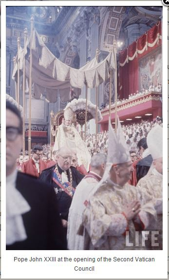 Pope John XXIII at opening of the Council