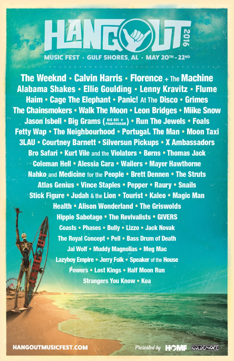 Lineup do Hangout Music Festival 2016