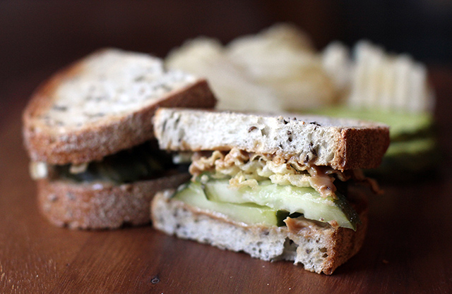 Peanut Butter & Pickle Sandwich