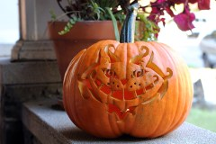 Pumpkin Carving in Wonderland: The Cheshire Cat