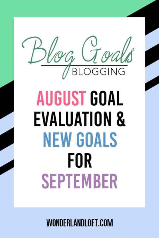 Blog Goals - September 2016