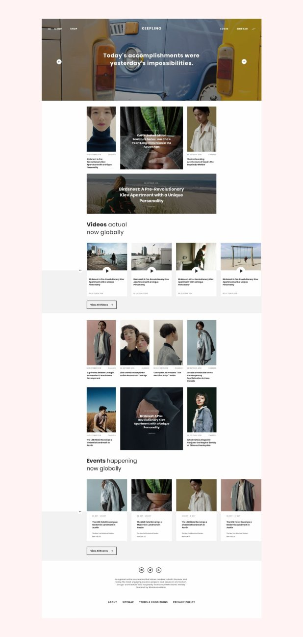 Blog and Shop Magazine Template PSD mockup download