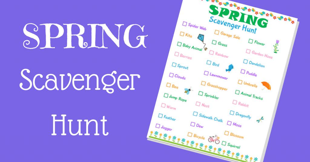 Printable Spring Scavenger Hunt