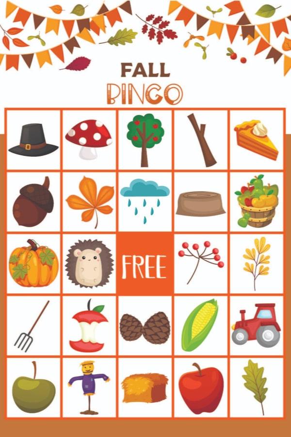 Printable Fall Bingo For Kids