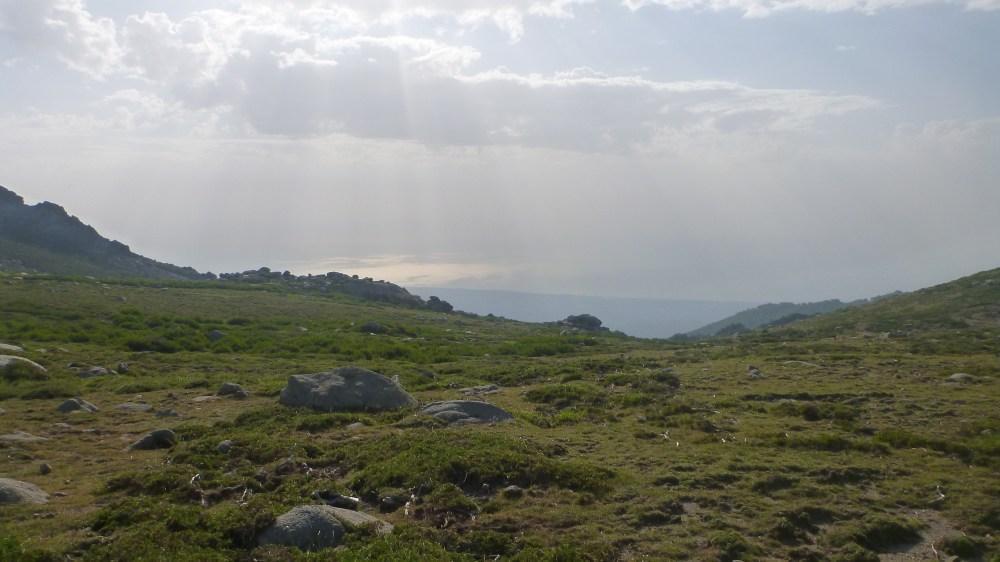 La mer à l'Est depuis le refuge de Prati