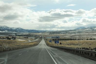 On the way to Bryce Canyon from Salt Lake City