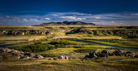 View of Sweetgrass Hills
